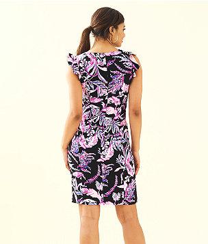 Mina Stretch Shift Dress, Onyx Wild Within, large