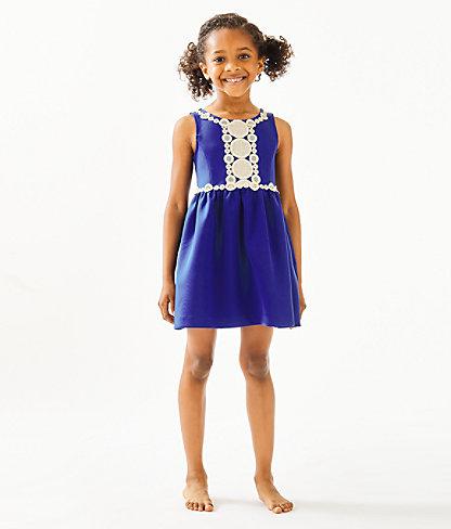 Girls Baylee Dress, Lapis Lazuli, large 0