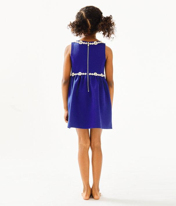 Girls Baylee Dress, Lapis Lazuli, large