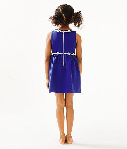 Girls Baylee Dress, Lapis Lazuli, large 1
