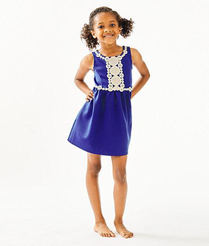 Girls Baylee Dress, Lapis Lazuli, large 2