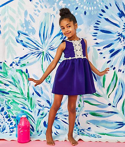 Girls Baylee Dress, Lapis Lazuli, large 3