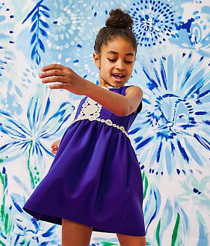 Girls Baylee Dress, Lapis Lazuli, large 4