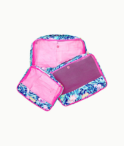 Sea Island Packing Cube Set, Lapis Lazuli Beach Club Blooms, large 0