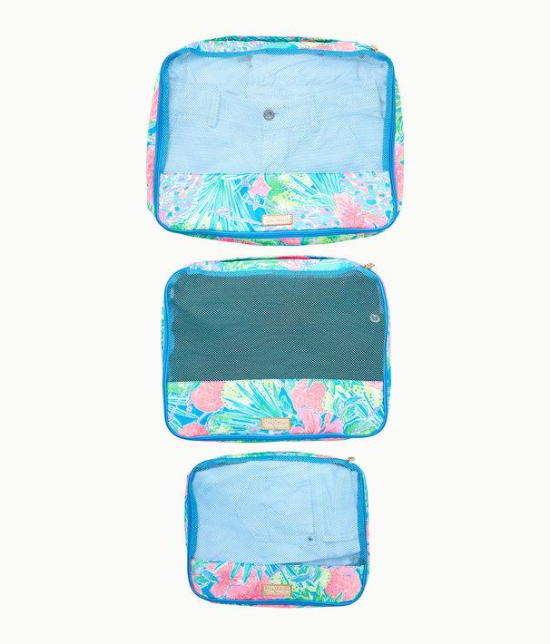 Sea Island Packing Cube Set, Multi Swizzle In, large