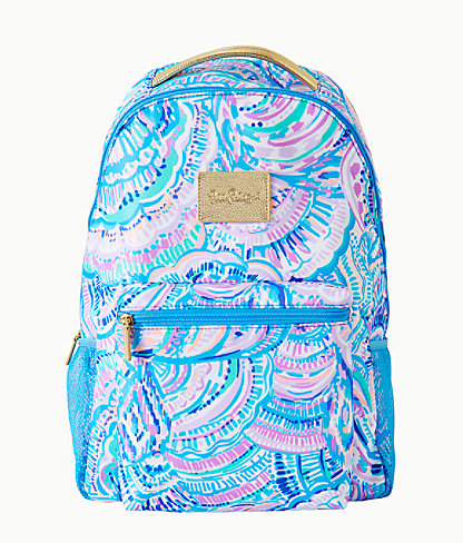 Lilly Pulitzer Bahia Backpack In Blue Peri Viva La Lilly