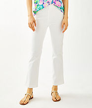 """28"""" Ocean Cay High Rise Crop Flare Pant, Resort White, large"""
