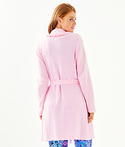 Melville Ruffle Robe, Pink Blossom, large 1