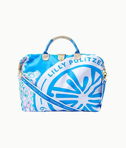 Whitleigh Packable Weekender Bag, Zanzibar Blue Swizzle Out Engineered Weekender, large 0