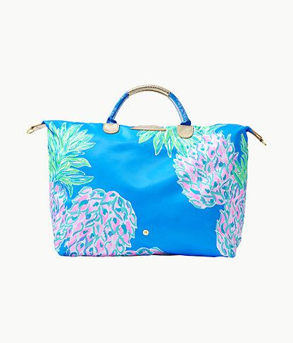 Whitleigh Packable Weekender Bag, Zanzibar Blue Swizzle Out Engineered Weekender, large 1