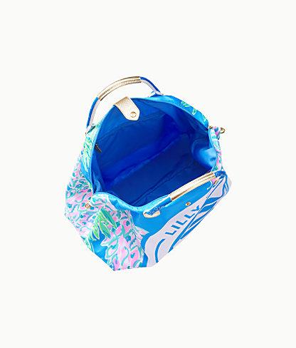 Whitleigh Packable Weekender Bag, Zanzibar Blue Swizzle Out Engineered Weekender, large 3