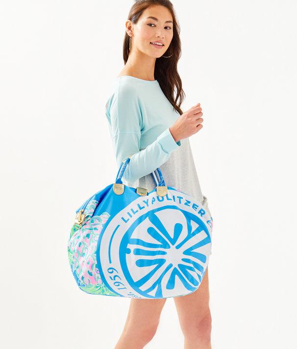 Whitleigh Packable Weekender Bag, Zanzibar Blue Swizzle Out Engineered Weekender, large