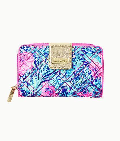 Warwick Wallet, Lapis Lazuli Beach Club Blooms Handbags Small, large 0