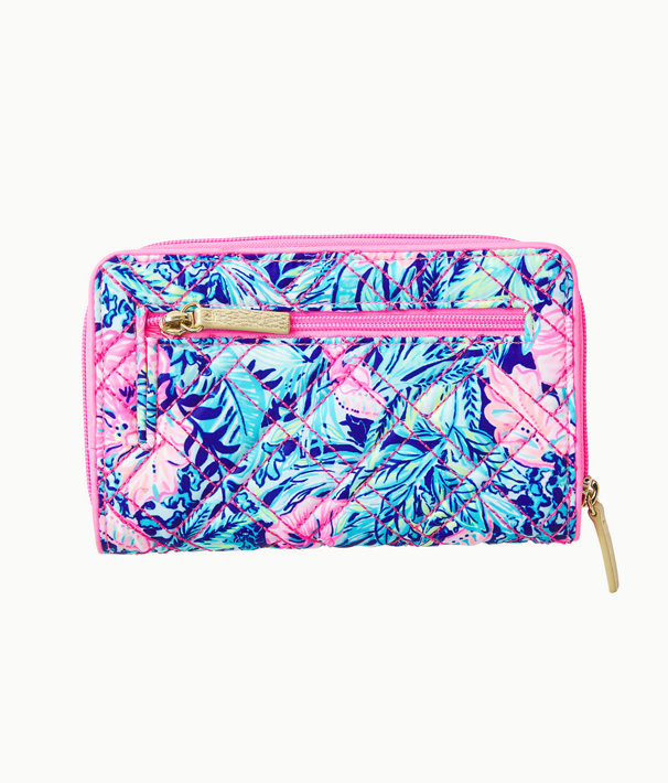 Warwick Wallet, Lapis Lazuli Beach Club Blooms Handbags Small, large