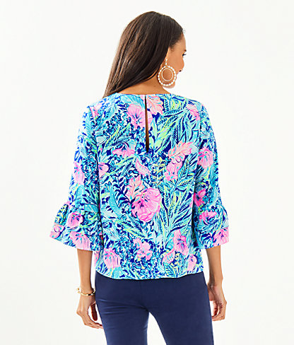 Christie Top, Lapis Lazuli Beach Club Blooms, large 1