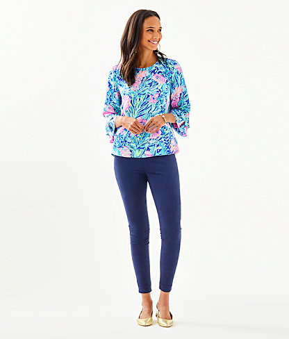 Christie Top, Lapis Lazuli Beach Club Blooms, large 2