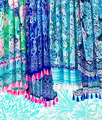 Resort Scarf, Lapis Lazuli Cosmic Kismet Engineered Scarf, large 3