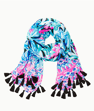 Resort Scarf, Maldives Green Hype It Up Engineered Scarf, large