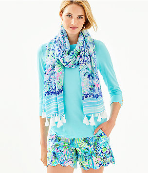 Resort Scarf, Multi Lillys House Engineered Scarf, large