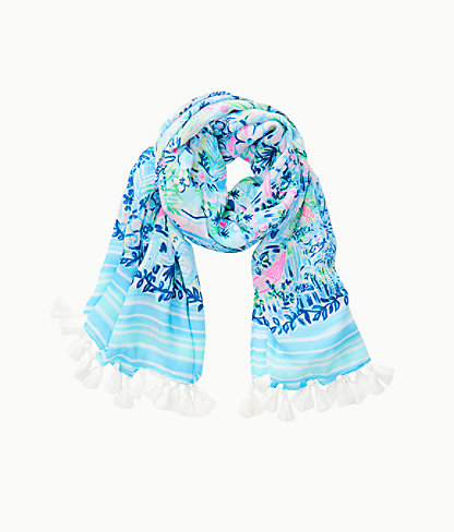Resort Scarf, Multi Lillys House Engineered Scarf, large 1
