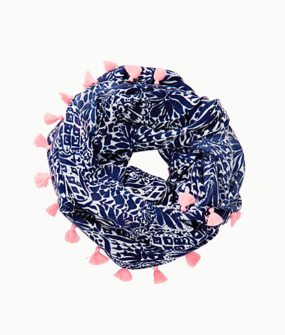 Resort Infinity Loop Scarf, High Tide Navy By Land Or By Sea, large 1