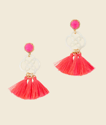 Sandpiper Earrings, Havana Pink, large