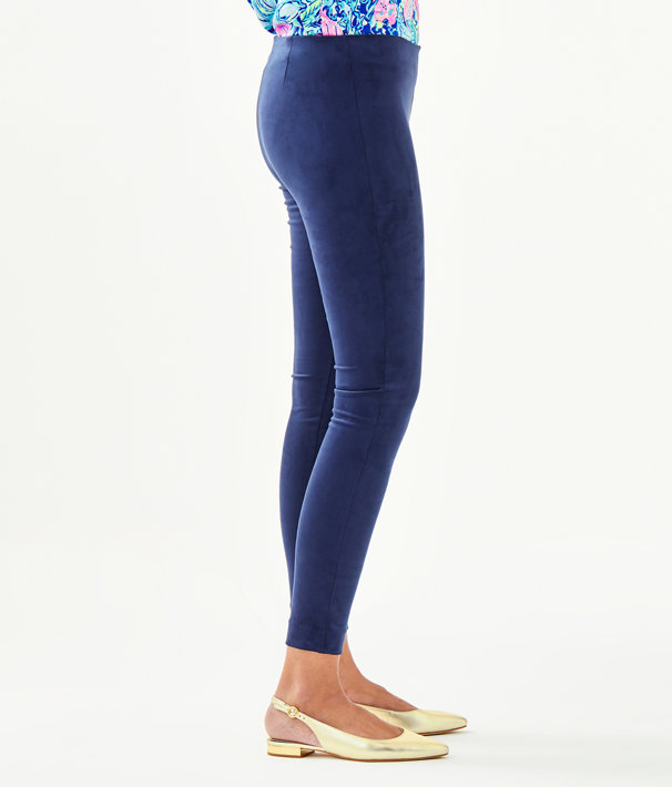 "29"" Anika Ultra Suede Legging, True Navy, large"