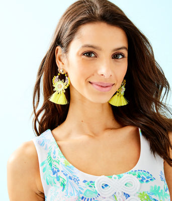 Capri Soleil Earring, Pineapple Twist, large