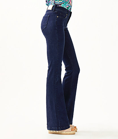 "35.5"" South Ocean High Rise Flare Jean, Cosmic Wash, large 2"