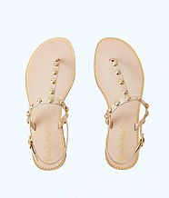 Rita Studded Sandal, Gold Metallic, large