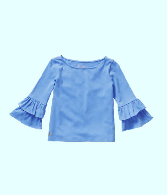 Girls Mazie Top, Coastal Blue, large