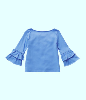 Girls Mazie Top, Coastal Blue, large 1