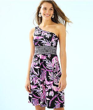 Malia One-Shoulder Dress, Onyx Wild Within Engineered Dress, large