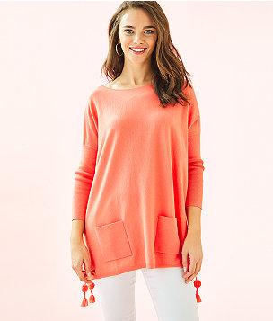 Elba Coolmax Sweater, Tangerine, large