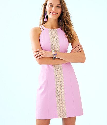 Pearl Stretch Shift Dress, Lilac Freesia, large 0
