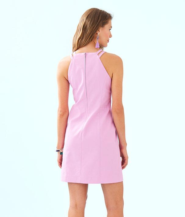 Pearl Stretch Shift Dress, Lilac Freesia, large