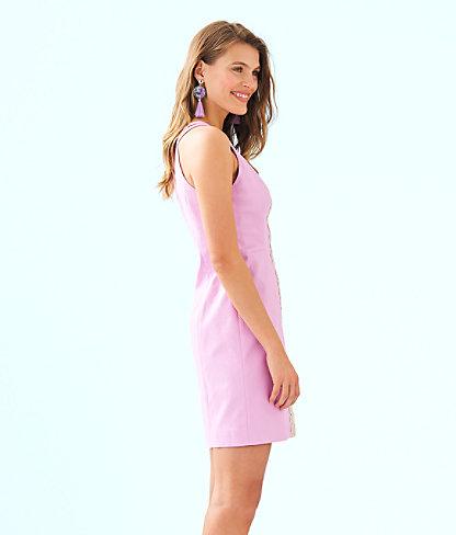 Pearl Stretch Shift Dress, Lilac Freesia, large 2
