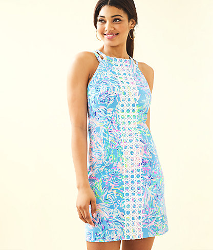 Pearl Stretch Shift Dress, Multi All Together Now, large 0