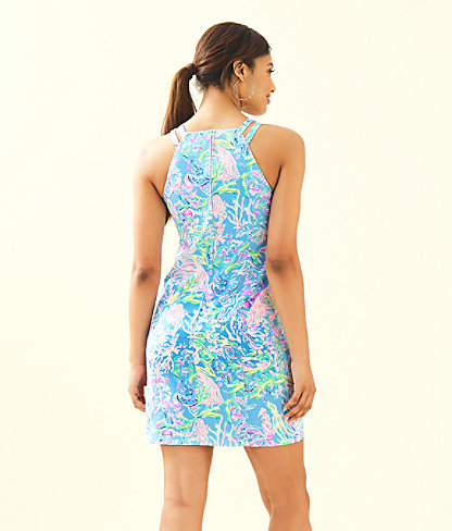Pearl Stretch Shift Dress, Multi All Together Now, large 1