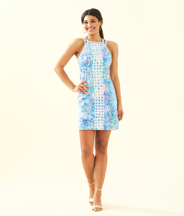 Pearl Stretch Shift Dress, Multi All Together Now, large