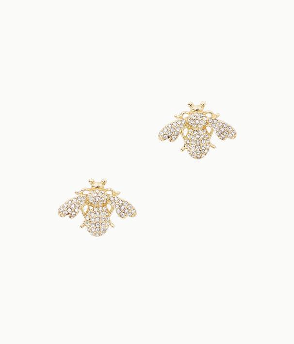 Bee-utiful Earrings, Gold Metallic, large