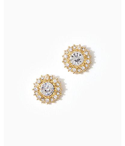Swizzle Earrings, Gold Metallic, large 0