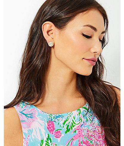 Swizzle Earrings, Gold Metallic, large 1