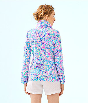 UPF 50+ Leona Zip-Up, Multi Happy As A Clam, large