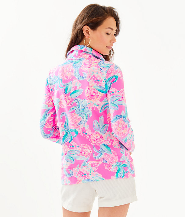UPF 50+ Leona Zip-Up, Prosecco Pink Pinking Positive, large