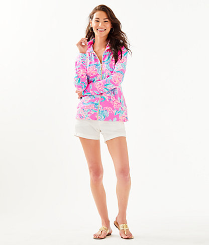 UPF 50+ Leona Zip-Up, Prosecco Pink Pinking Positive, large 2