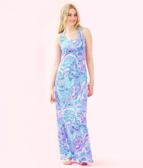 Treena Maxi Dress, Multi Happy As A Clam, large