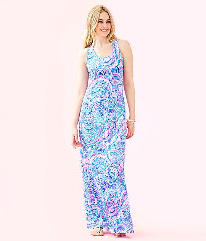 Treena Maxi Dress, Multi Happy As A Clam, large 0