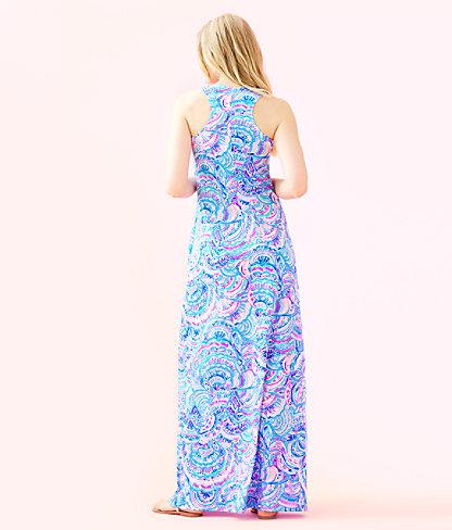 Treena Maxi Dress, Multi Happy As A Clam, large 1