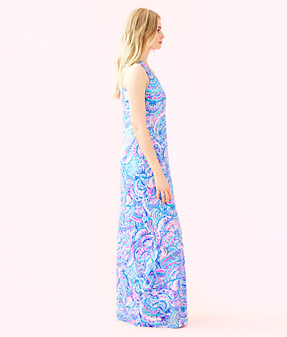 Treena Maxi Dress, Multi Happy As A Clam, large 2
